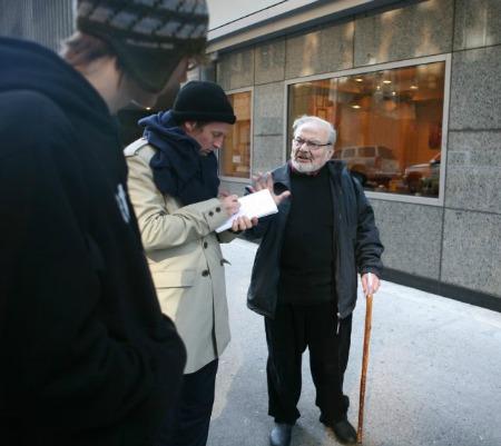 Spike Jonze (diretor) e  Maurice Sendak (escritor)