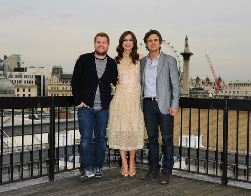 James Corden, Keira Knightley e Mark Ruffalo