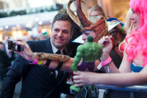 LONDON, UK- APRIL 21: Actor Mark Ruffalo attends the European premiere of Marvel's